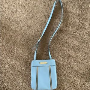 Like new Michael Kors baby blue crossbody